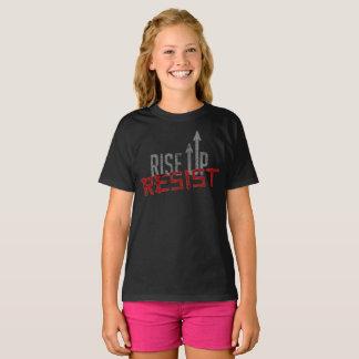 Rise Up, Resist Girl's Dark T-Shirt