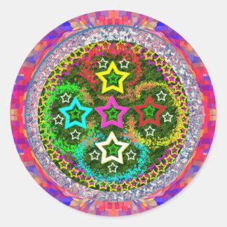 RISING 5Stars - Kids Love FiveStars Round Sticker