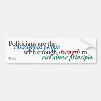 Rising above Principle Bumper Sticker