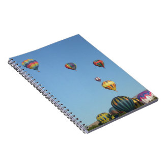 Rising Balloons Above Trees & Mountains Note Book