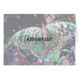 Rising Butterfly Table Card! Card