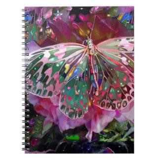 Rising Dawn Butterfly Spiral Notebook
