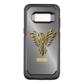 Rising Golden Phoenix Gold Flames With Shadows OtterBox Commuter Samsung Galaxy S8 Case
