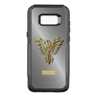 Rising Golden Phoenix Gold Flames With Shadows OtterBox Commuter Samsung Galaxy S8+ Case