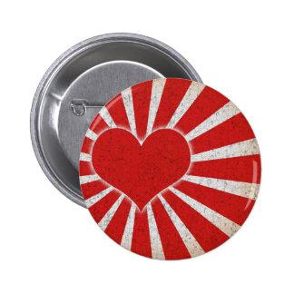 Rising Love 2 Inch Round Button