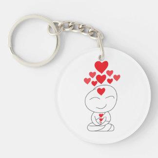 Rising Love Personalizable Buddha Key Chain