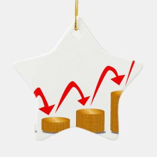 Rising Money Steps Ceramic Star Ornament
