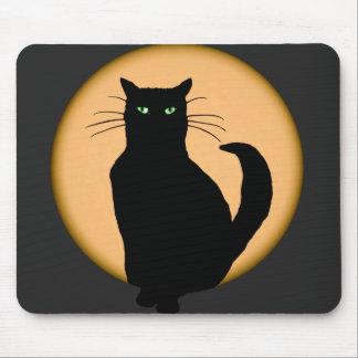 Rising Moon Cat Silhouette Mousepad