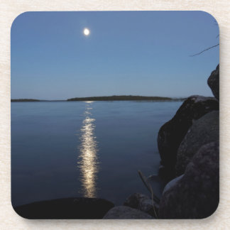 Rising Moon Over Whiskey Bay, St Joseph Island Coasters