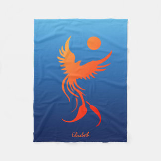 Rising Phoenix in Flames Blanket