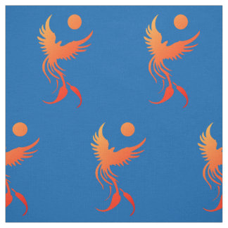 Rising Phoenix in Flames Fabric