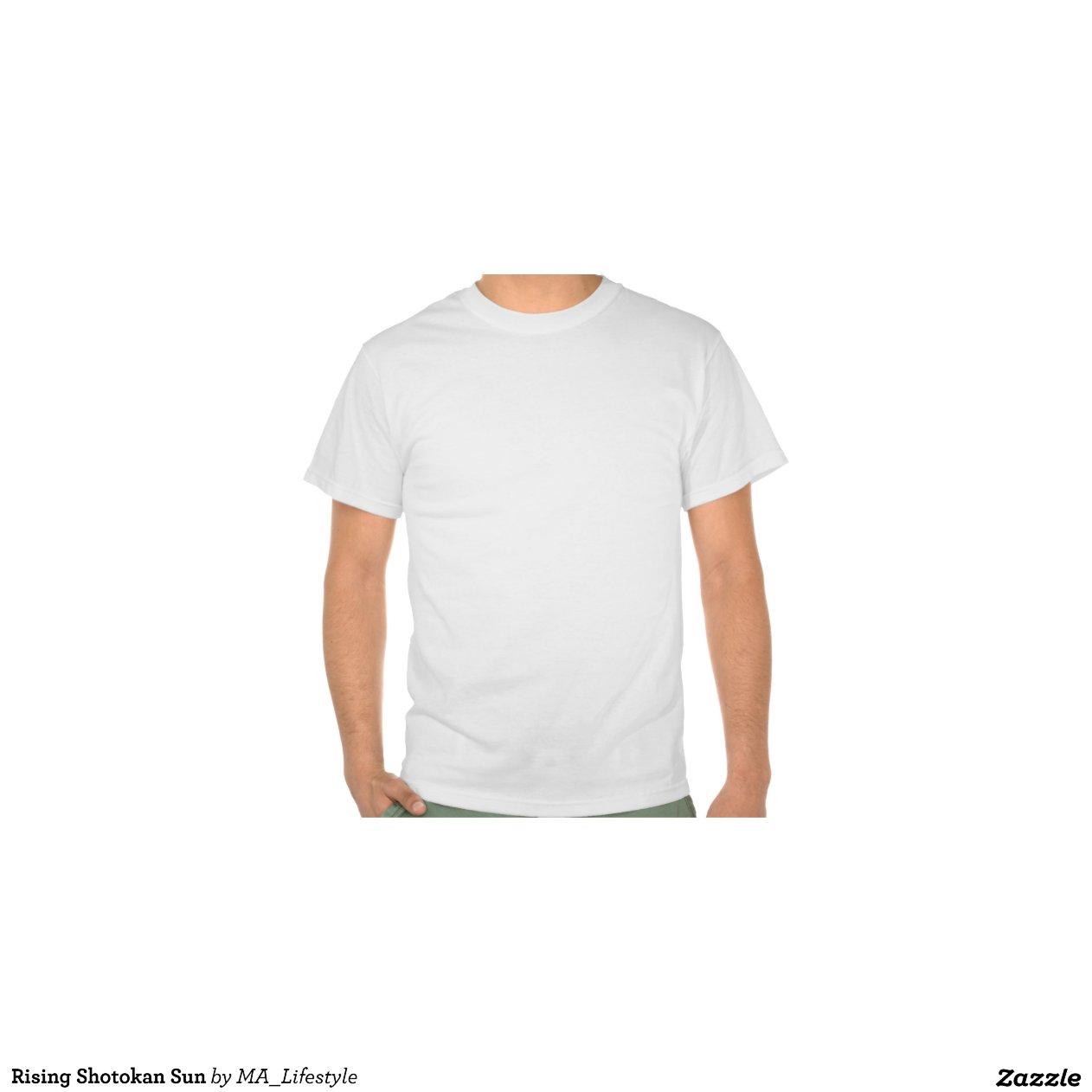 Rising shotokan sun t shirts zazzle for Sun t shirts sunland california