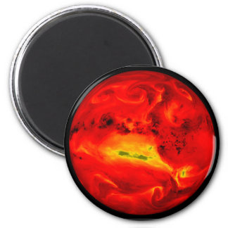 rising sun 2 inch round magnet