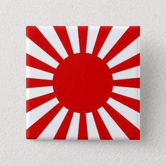 Rising Sun 2 Inch Square Button