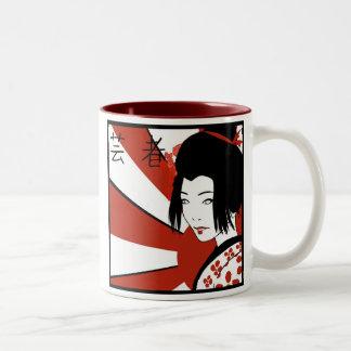 Rising Sun Geisha Mug