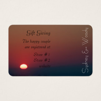 Rising Sun Gift Registry Business Card