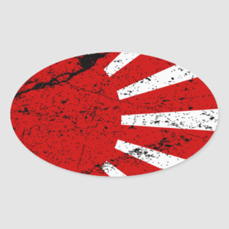 Rising Sun Oval Sticker
