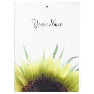 Rising sun sunflower clipboard