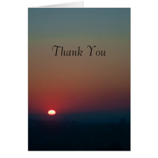 Rising Sun Thank You Card