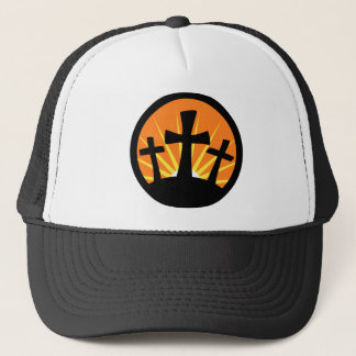 Rising Sun - Three Crosses Trucker Hat