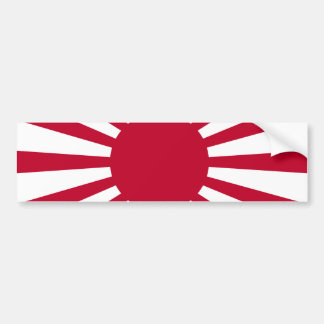 Rising Sun War Flag of the Imperial Japanese Army Bumper Sticker