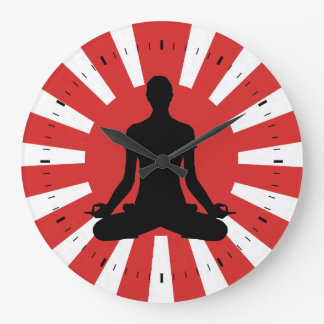 Rising Sun Yoga 4 meditation Large Clock