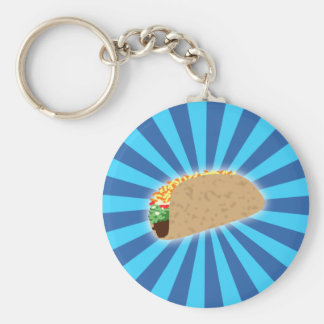 Rising Taco Keychain