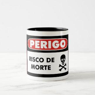 Risk of death Two-Tone coffee mug