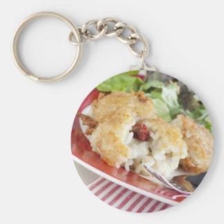 Risotto and Mozzarella Appetizer Keychain
