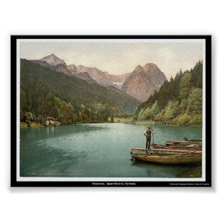 Rissersee,  Upper Bavaria, Germany Poster