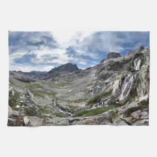 Ritter Pass Waterfall - Ansel Adams Wilderness Kitchen Towel