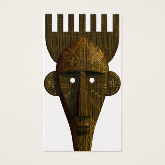 Ritual African Mask Business Card