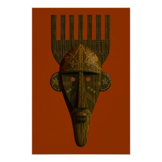 Ritual African Mask Poster