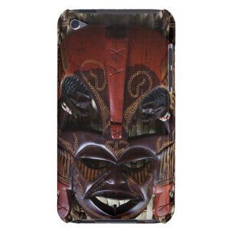 Ritual African Tribal Wooden Carved Mask Brown Red Case-Mate iPod Touch Case