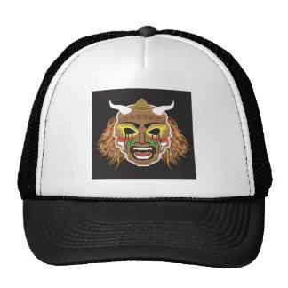 Ritualistic Tribal Mask Vector Trucker Hat