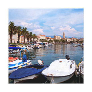 Riva waterfron, Split, Croatia Canvas Print