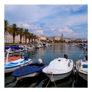 Riva waterfron, Split, Croatia Poster