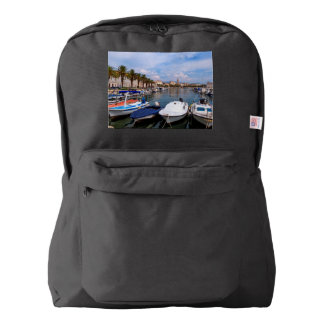 Riva waterfront, Split, Croatia Backpack