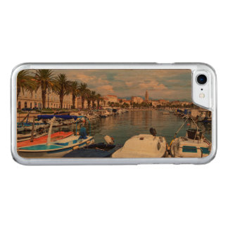 Riva waterfront, Split, Croatia Carved iPhone 7 Case