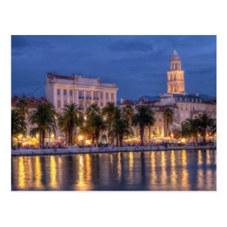 Riva waterfront, Split, Croatia Postcard