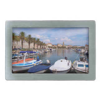 Riva waterfront, Split, Croatia Rectangular Belt Buckle