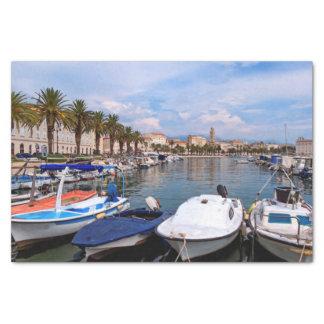 Riva waterfront, Split, Croatia Tissue Paper