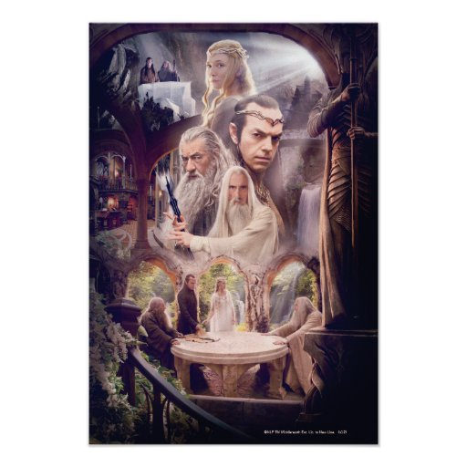 Rivendell Character Collage Print