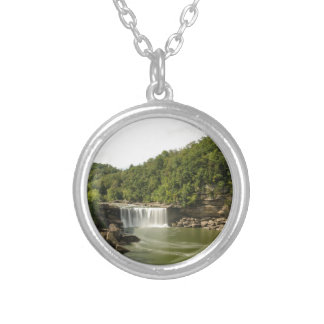 River 1 silver plated necklace