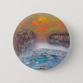 River above the falls 2 inch round button