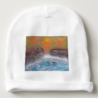 River above the falls baby beanie
