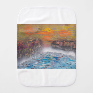 River above the falls burp cloth