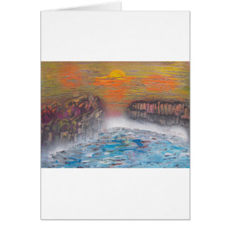 River above the falls card
