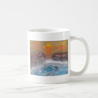 River above the falls coffee mug