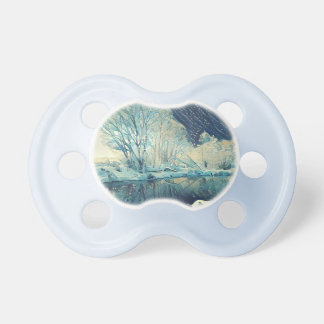 River and moon baby pacifiers
